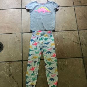 Carter's Girl Dinosaur Pajamas